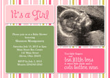 Colorful Stripes Photo Baby Shower Invitation • Any Colors Baby Shower Photo Invitations - Everything Nice