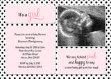 Polka Dots Photo Baby Shower Invitation • Any Colors Baby Shower Photo Invitations - Everything Nice