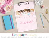 Ballerina Ballet Personalized Clipboard School & Office Supplies - Everything Nice