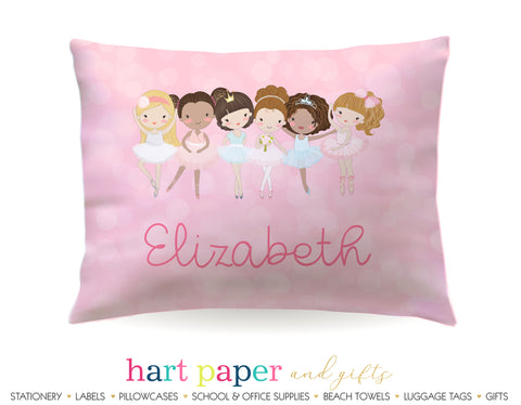 Ballerina Ballet Dancer Personalized Pillowcase Pillowcases - Everything Nice