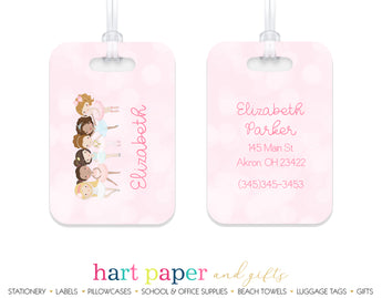 Ballerina Dancer Dancing Dance Luggage Bag Tag School & Office Supplies - Everything Nice