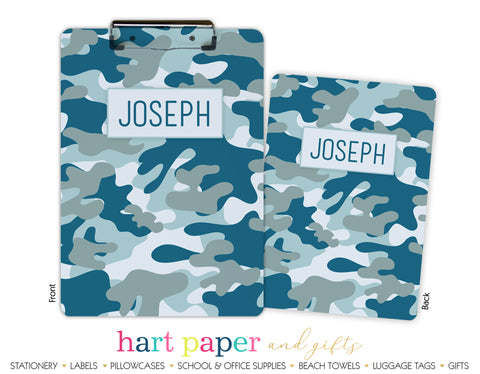 Camouflage Camo Personalized Clipboard School & Office Supplies - Everything Nice