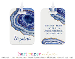 Agate Geode Luggage Bag Tag School & Office Supplies - Everything Nice