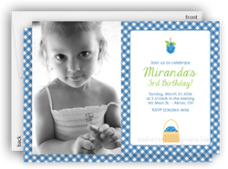 Blueberry Photo Birthday Party Invitation • Any Colors Adult Photo Birthday Invitations - Everything Nice