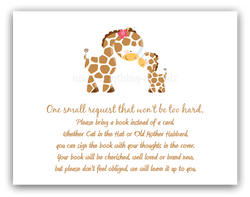 Giraffe •  Book Instead of Card