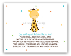 Polka Dot Giraffe •  Book Instead of Card