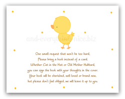 Chick Duck •  Book Instead of Card