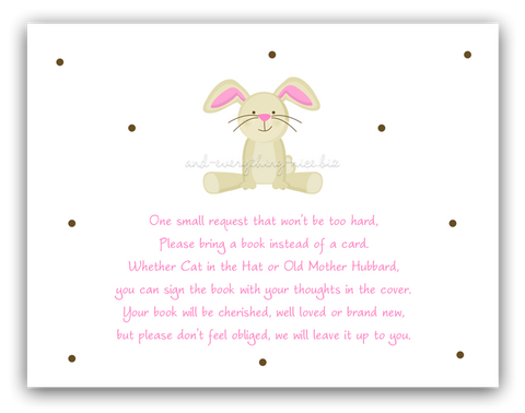 Bunny Rabbit •  Book Instead of Card Book Instead of Card - Everything Nice