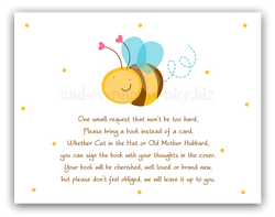 Cute Bumble Bee •  Book Instead of Card