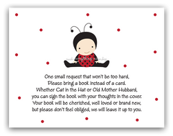 Baby Ladybug •  Book Instead of Card