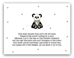 Panda Bear II •  Book Instead of Card