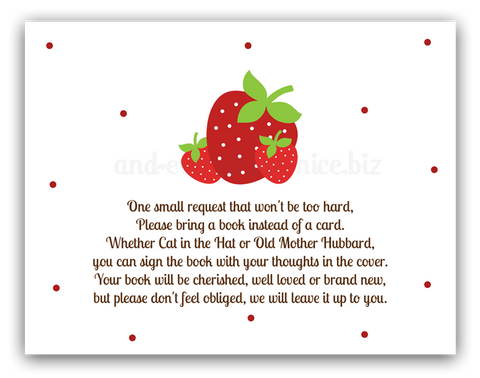 Strawberry •  Book Instead of Card