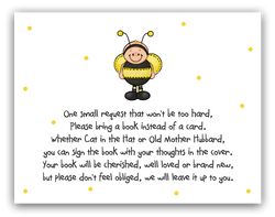 Ba-Bee Bumble Bee •  Book Instead of Card