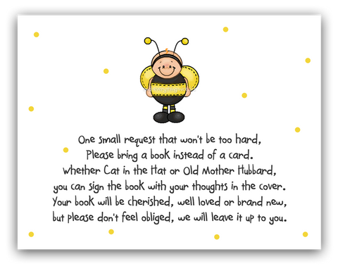 Ba-Bee Bumble Bee •  Book Instead of Card Book Instead of Card - Everything Nice