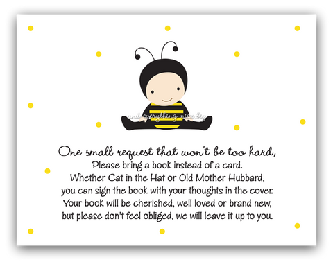 Baby Bumble Bee •  Book Instead of Card