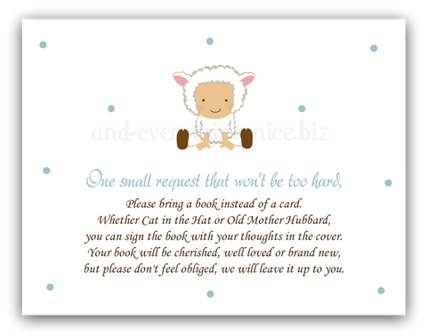 Baby Lamb •  Book Instead of Card