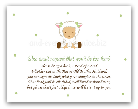 Baby Lamb •  Book Instead of Card Book Instead of Card - Everything Nice