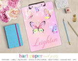 Butterfly Personalized Clipboard School & Office Supplies - Everything Nice