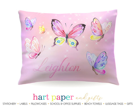 Butterfly Personalized Pillowcase Pillowcases - Everything Nice