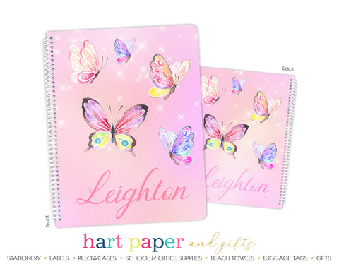 Butterfly Personalized Notebook or Sketchbook School & Office Supplies - Everything Nice