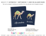 Camel Personalized Notebook or Sketchbook School & Office Supplies - Everything Nice