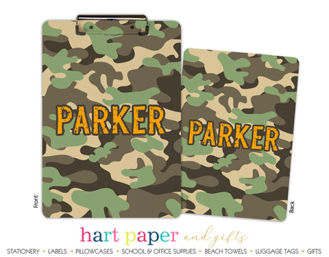 Camouflage Camo Clipboard School & Office Supplies - Everything Nice