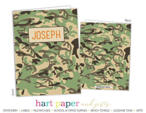 Camo Camouflage Personalized 2-Pocket Folder School & Office Supplies - Everything Nice