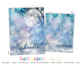 Galaxy Stars Sky Moon Space Personalized 2-Pocket Folder School & Office Supplies - Everything Nice