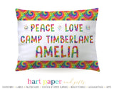 Tie Dye Camp Camping Personalized Pillowcase Pillowcases - Everything Nice
