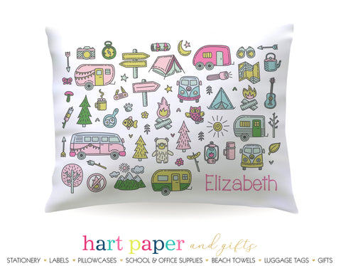 Camp Camping Personalized Pillowcase Pillowcases - Everything Nice