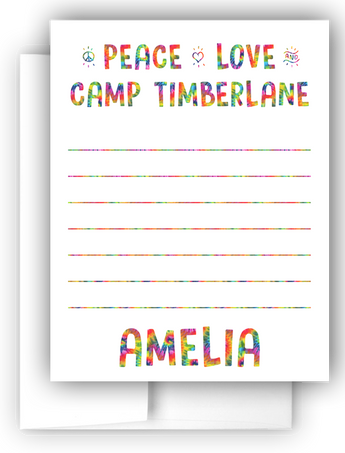 Tie Dye Camping Thank You Cards Note Cards Stationery •  Flat Cards Stationery Thank You Cards - Everything Nice