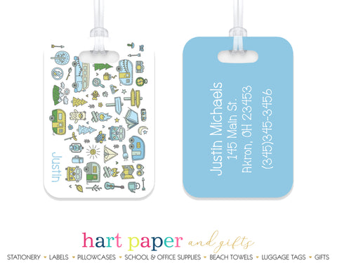 Camping Summer Camp Luggage Bag Tag School & Office Supplies - Everything Nice