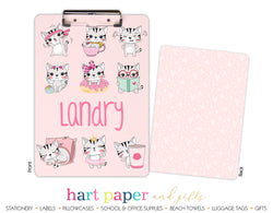 Cat Kitten Hearts Personalized Clipboard School & Office Supplies - Everything Nice