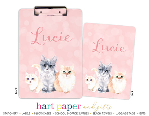 Cat Kitten Personalized Clipboard School & Office Supplies - Everything Nice