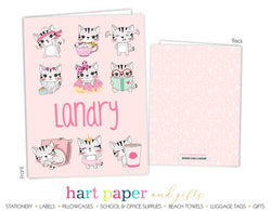 Cat Kitten Personalized 2-Pocket Folder School & Office Supplies - Everything Nice