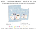 Cat Personalized Notebook or Sketchbook School & Office Supplies - Everything Nice