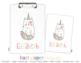 Caticorn Cat Unicorn Rainbow Personalized Clipboard School & Office Supplies - Everything Nice