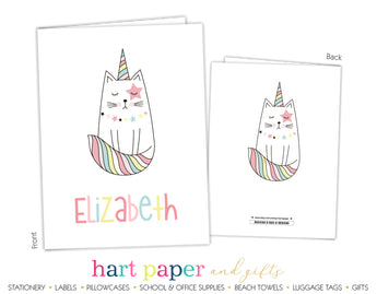 Cat Unicorn Kitten Personalized 2-Pocket Folder School & Office Supplies - Everything Nice