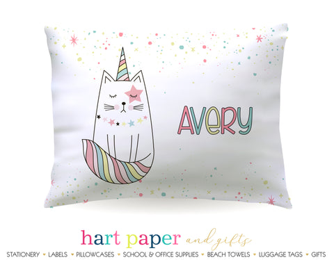 Caticorn Cat Rainbow Personalized Pillowcase Pillowcases - Everything Nice
