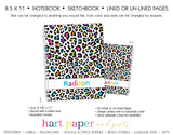 Rainbow Cheetah Personalized Notebook or Sketchbook School & Office Supplies - Everything Nice