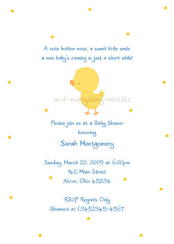 Duck Chick Baby Shower Invitation • Any Colors Baby Shower Invitations - Everything Nice