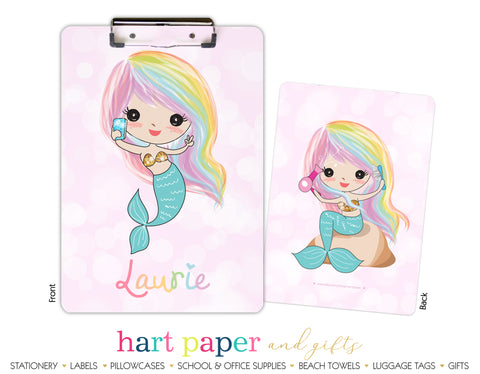 Rainbow Mermaid e Personalized Clipboard School & Office Supplies - Everything Nice