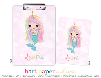 Rainbow Mermaid d Personalized Clipboard School & Office Supplies - Everything Nice