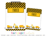 Construction Trucks Personalized Clipboard School & Office Supplies - Everything Nice