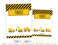 Construction Trucks Personalized 2-Pocket Folder School & Office Supplies - Everything Nice