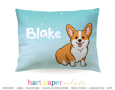 Corgi Dog Personalized Pillowcase Pillowcases - Everything Nice