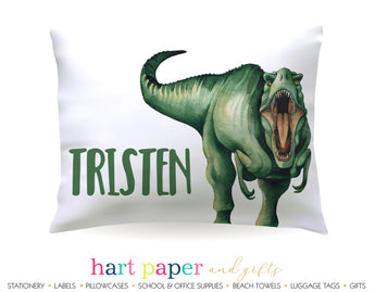 T-Rex Dinosaur Dino Personalized Pillowcase Pillowcases - Everything Nice