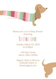 Dachshund Dog Party Invitation • Baby Shower Birthday • Any Colors