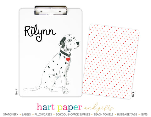 Dalmatian Dog Personalized Clipboard School & Office Supplies - Everything Nice