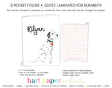 Dalmatian Dog Personalized 2-Pocket Folder School & Office Supplies - Everything Nice